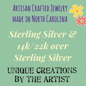 Sterling Silver Earrings Made in NC by Artist